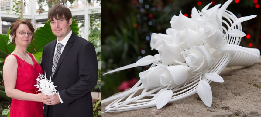 First Ever 3D Printed Wedding Bouquet Created in 40 Hours