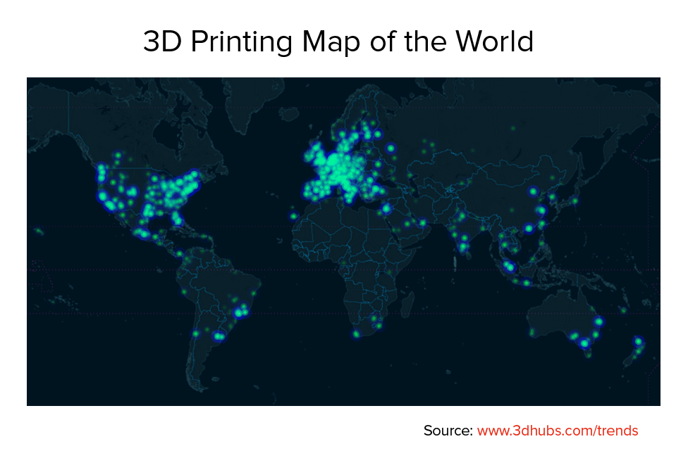 3D Hubs Releases Worldwide 3D Printing Trends for March 2015