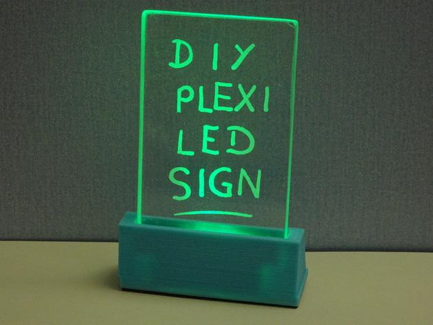 These 3d Printed Plexiglass Led Signs Display Your Text