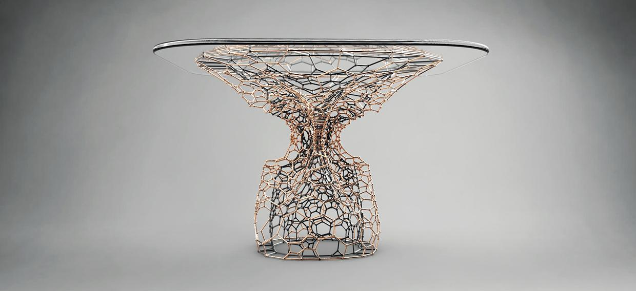 London Designer 3D Prints Intricate 'Cellular Coffee Table'