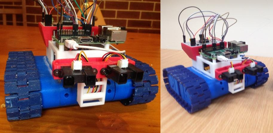 High School Teacher Creates Drogerdy, the 3D Printed Raspberry Pi Controlled Tank Bot