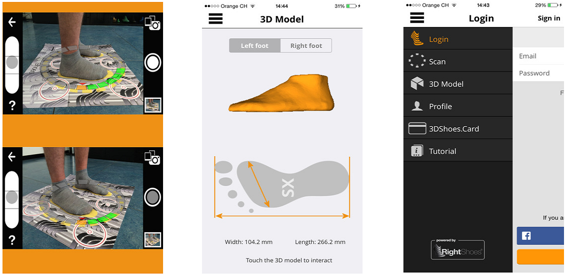 3DSHOES Launches Free Mobile Application for Scanning and then Storing Customers' Feet in the Cloud