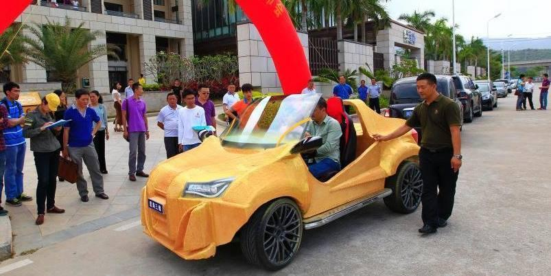 Chinese Company 3D Prints a Full-size Working Car for Just $1770