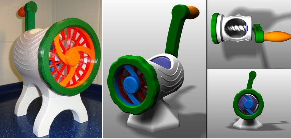 Fruit and Vegetable Cutter is 3D Printed to Take On An Old Kitchen Standby