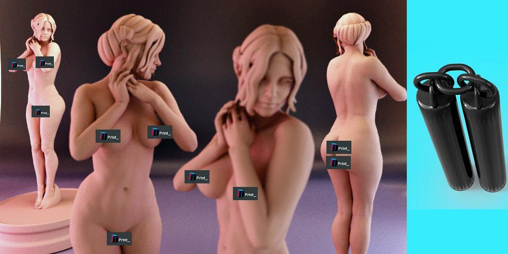Top 3D Printable 3DShare Models for March 22-28, 2015 — Kim Kardashian Exposed, Nunchucks, & More!