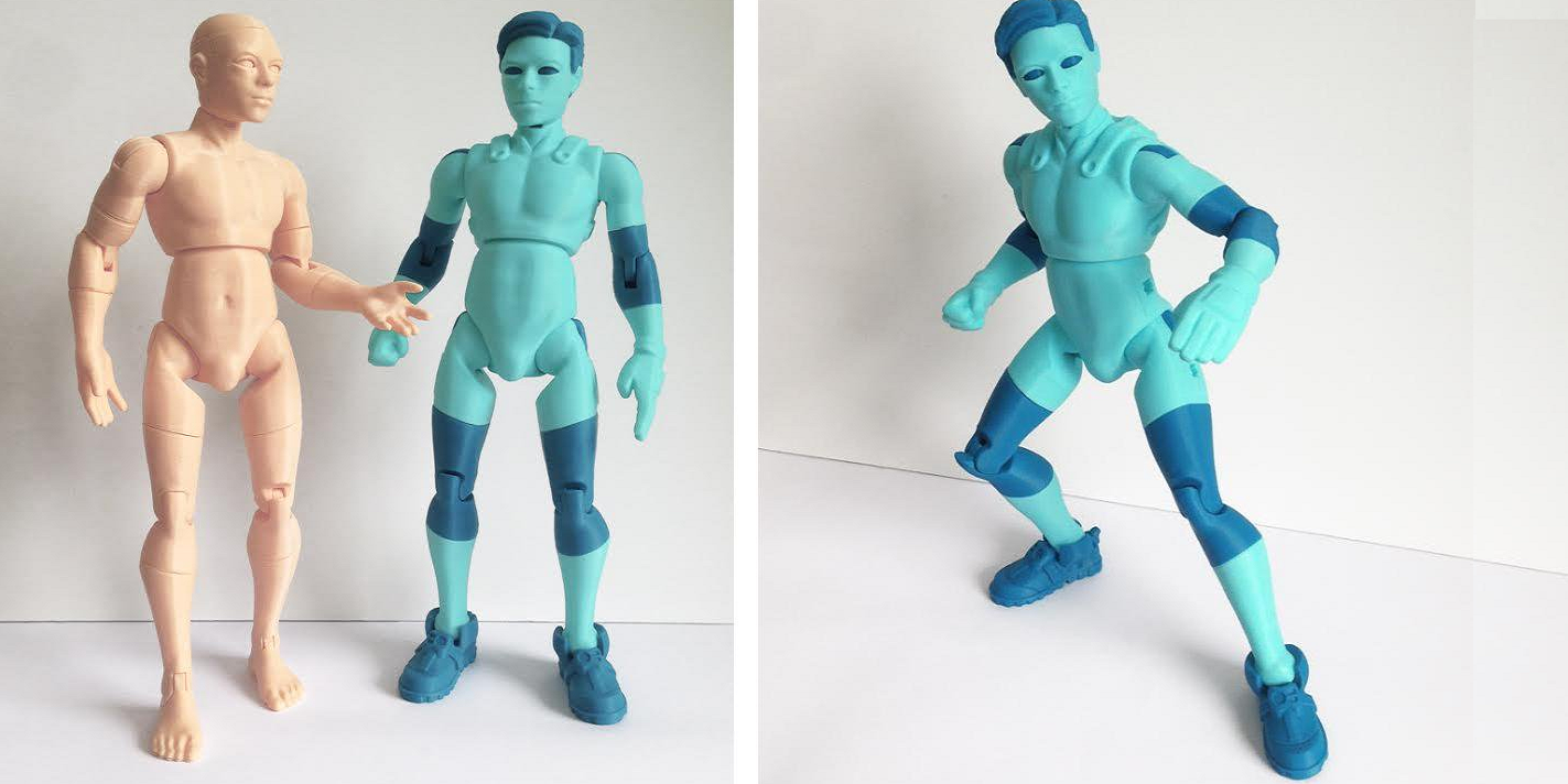 3DKitbash Unveils First Printed Models of NiQ, the Easily 3D Printable Alien Action Figure