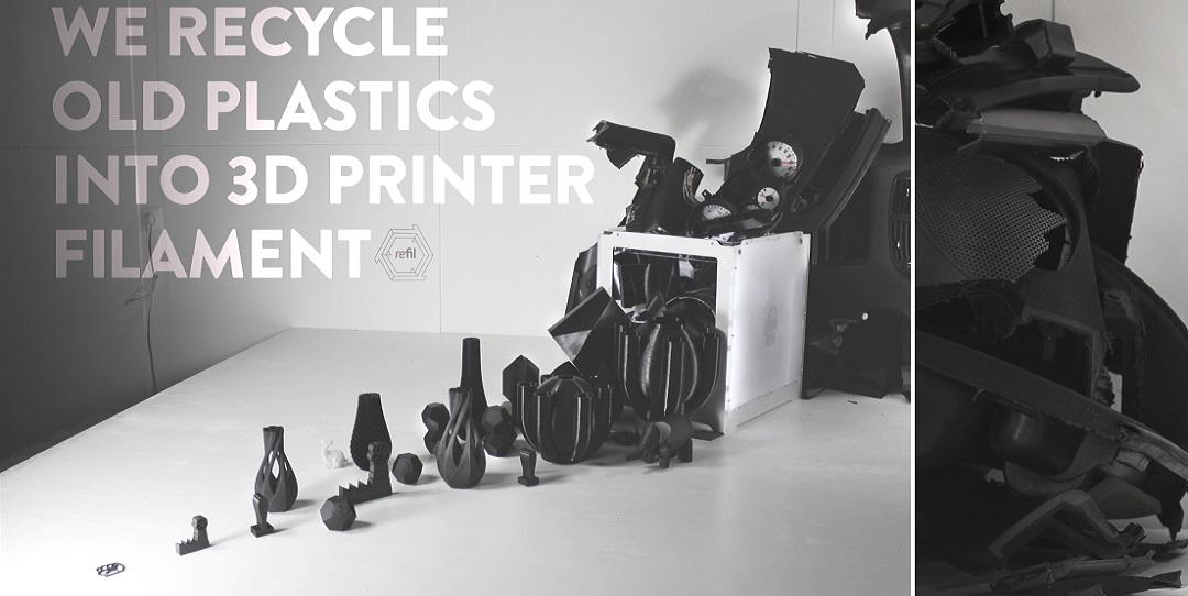 3D Print Objects Using Plastic From Old Car Dashboards -- Dutch Startup 'Refil' Offers New Filament