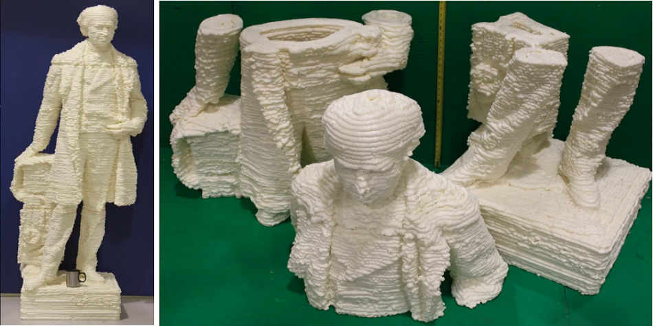 Researchers 3D Print 7-Foot-Tall Statue of Sir Wilfrid Laurier Out of Polyurethane Foam & Shaving Cream