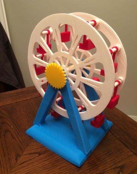 High School Student 3D Prints Incredible Hand Cranked Ferris Wheel