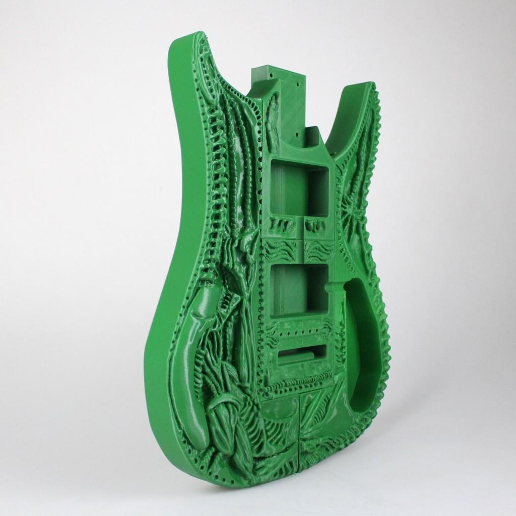 3D printed HR Giger Guitar detail 2