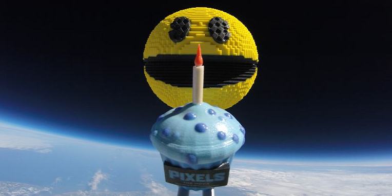 Pac-Man Celebrates 35th Birthday — is Launched into Space as 3D Printed Model