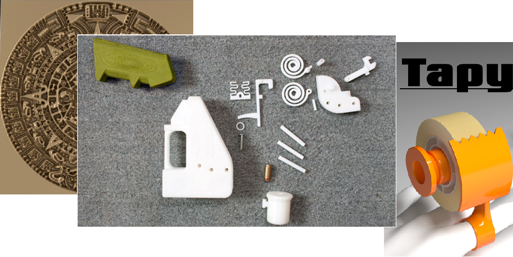 This Week's Top 3D Printable 3DShare Models: Gun, Female Parts, Tape Dispenser & More