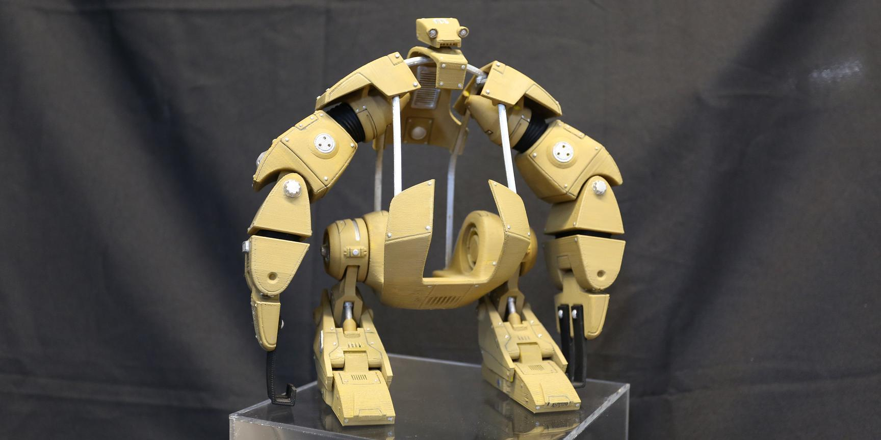 The 3D Printed Brooklyn Bridge Robot is Alive!