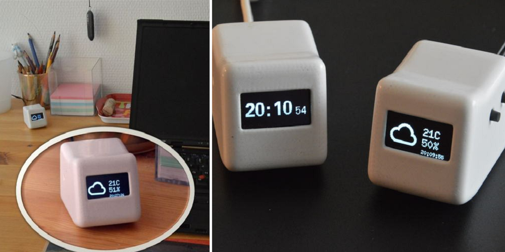 3D Printed Desktop Widget Keeps You Apprised of International Time & Weather Conditions