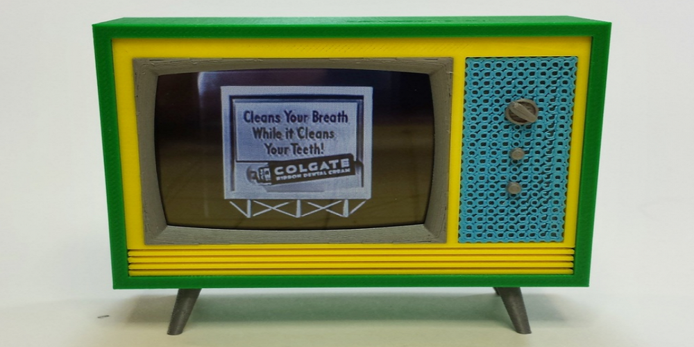 3D Print Your Own Retro Style Working Miniature Television Set