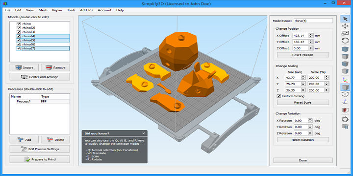 Simplify3D Adds More 3D Printers to Their List of Compatible Devices