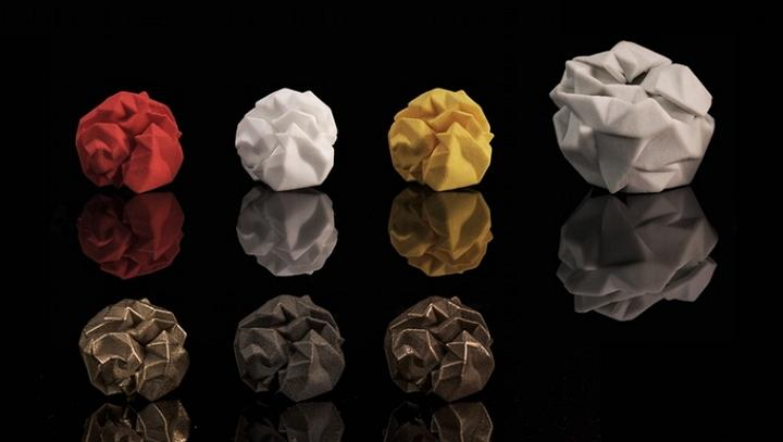 Turning Crumpled Paper Into 3D Printed Gold - Skraep