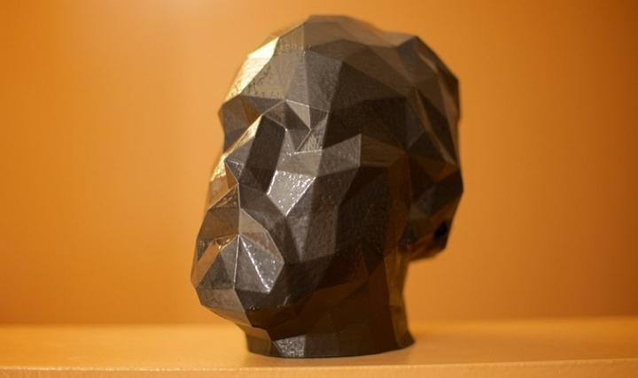3d printed bust of douglas coupland by John Biehler