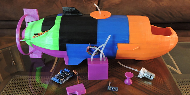 3D Printing a Fully Functional Miniature Submarine