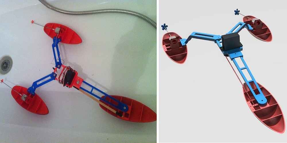 3D Printed Tri-Boat Makes a Splash on Thingiverse
