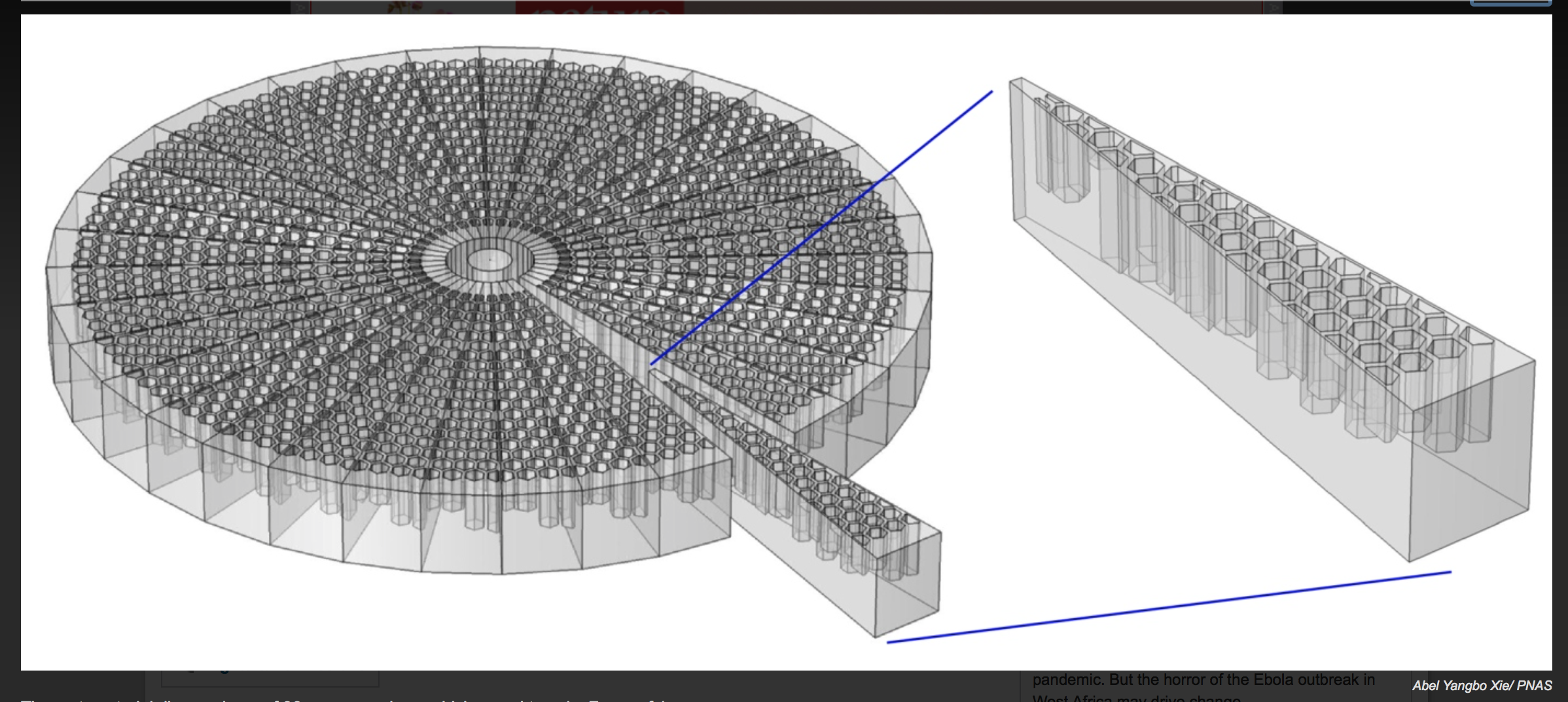 Solving the Cocktail Party Problem with a 3D Printed Metamaterial Disc