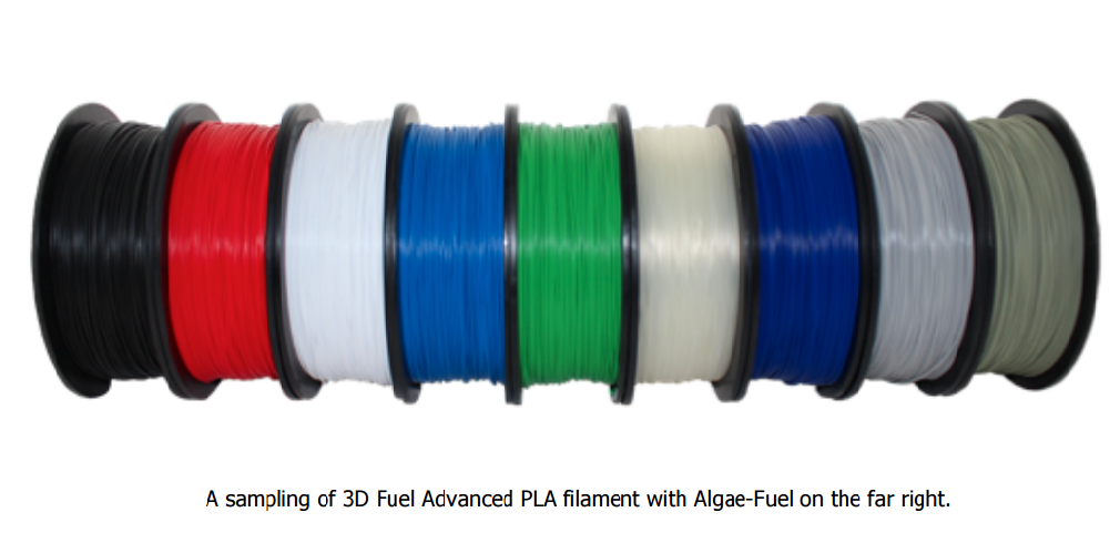3D-Fuel Takes PLA to Next Level with Higher Heat Resistance Filament & Algae-Fuel