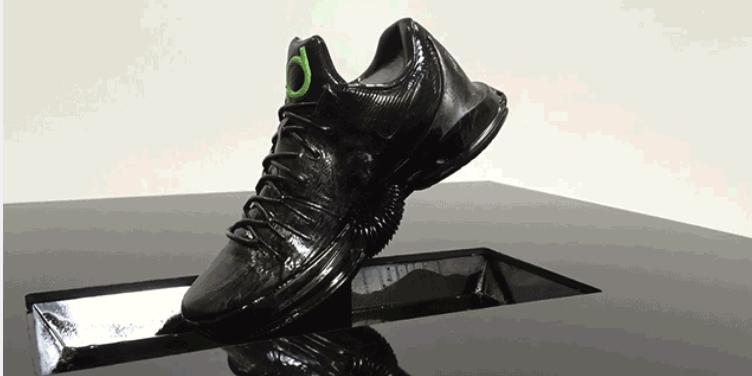 Nike 3D Prints Seemingly Impossible Ferrofluid Shoe Display