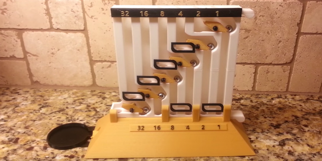 Watch this 3D Printed Binary Adding Machine in Action
