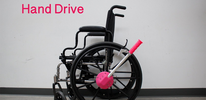 The Printed Wheelchair Hand Drive Is An Elegant Solution To Expensive Problem