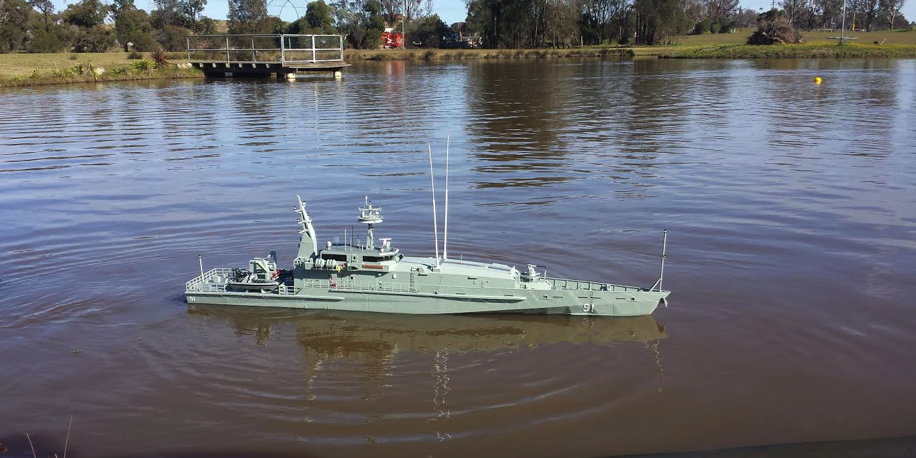 Man 3D Prints Huge 5 1/2 Foot Long RC Armidale-class Patrol Boat -- Larger Models on the Way!