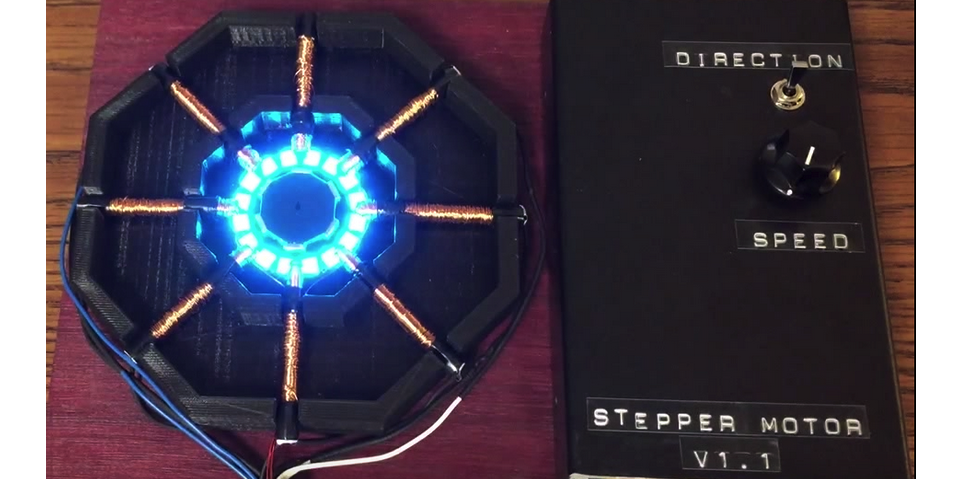 This New 3D Printed Stepper Motor Uses LEDs to Show Exactly How It Works
