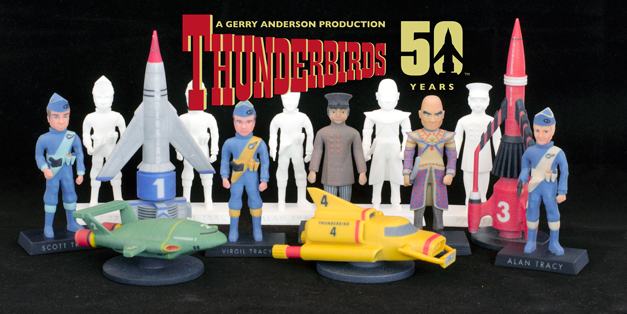 From the Tracys to The Hood: Thunderbirds Celebrates 50th Anniversary in 3D Print at Launzer