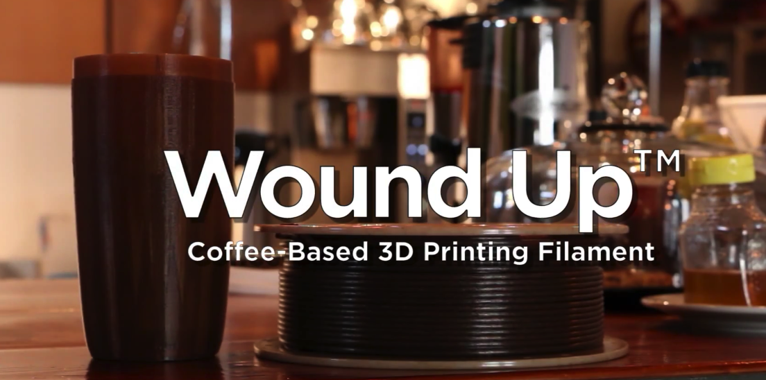 Wound Up — 3Dom USA's New Coffee 3D Printer Filament Takes Bio-materials to the Next Level
