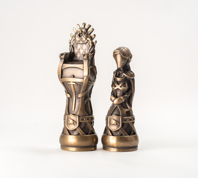 3D Printed Molds For Pieces In Throne Of Kings Chess Set
