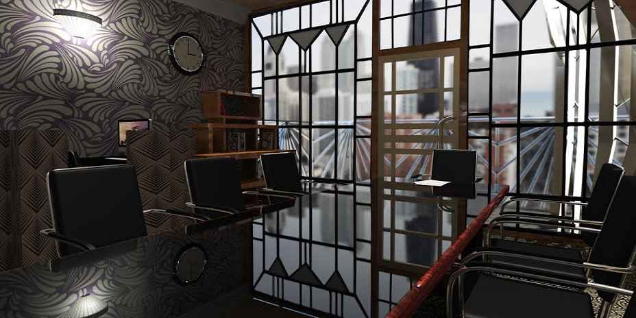 Grand » College Student Uses 3D Design To Create Stylish Art Deco Office Space