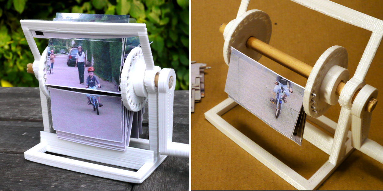 3D Printed Kinematoscope Allows You to Turn Images into Movies