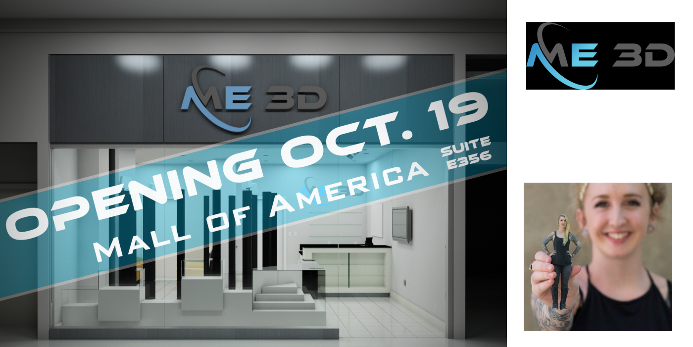ME3D Opens in Mall of America Next Week — Offers 3D Printed Mini-Me Figures