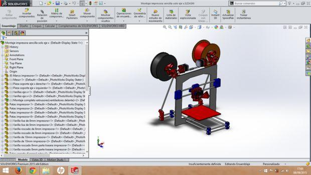 David used SolidWorks to design the improved parts for his 3D printer upgrade.