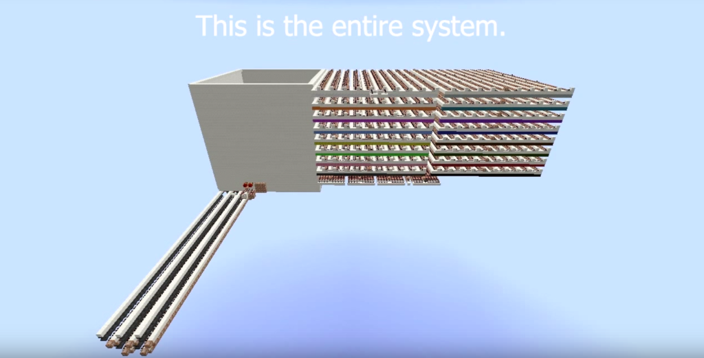 This is the massive structure that was built to power the Minecraft 3D printer.