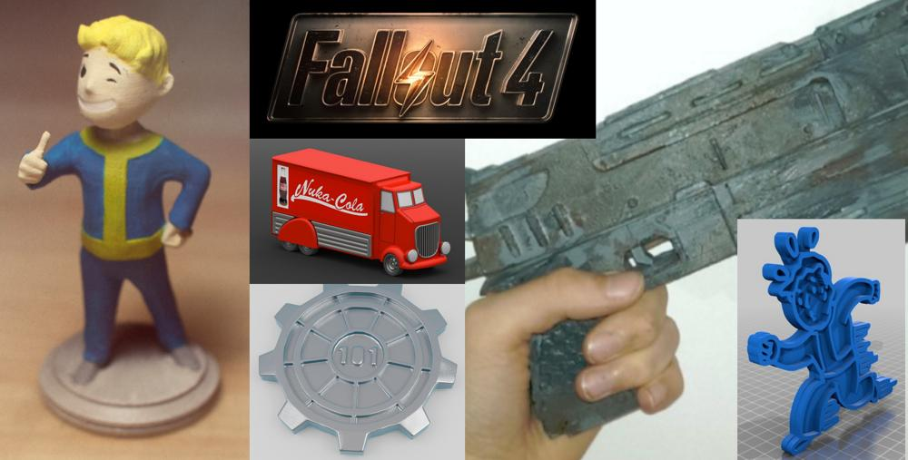 Weekly Roundup: Ten 3D Printable Things – Cool Fallout 4 Models That Anyone Can Print