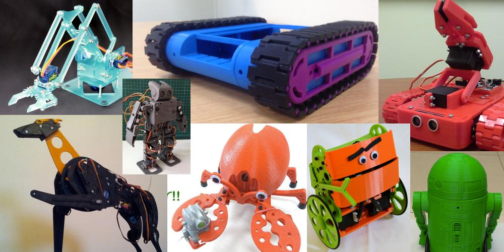 Weekly Roundup: Ten 3D Printable Things – Awesome Beginner 3D Printable Robotics Projects