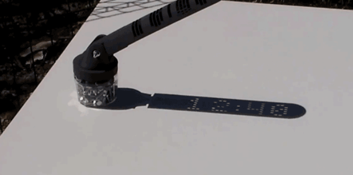 An Open Source 3D Printed Sundial That Reads Digital Time