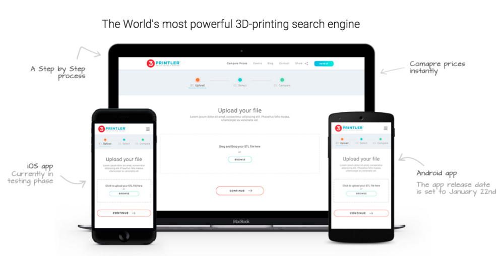 3DPrintler is available on the desktop or as a mobile app.