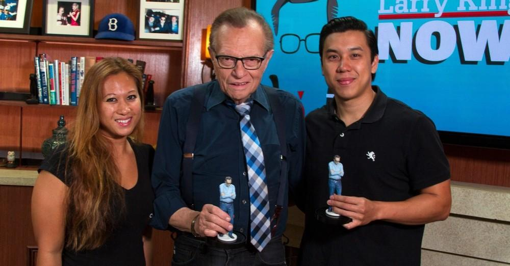 Larry King with his Mini-Me.