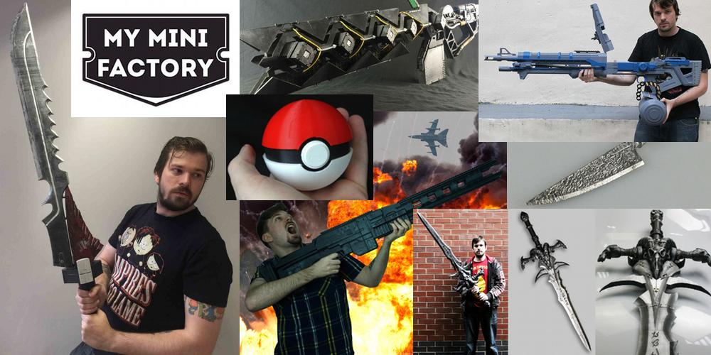 MyMiniFactory 3D Designer Kirby Downey on Video Games, Cosplay and 3D Printing