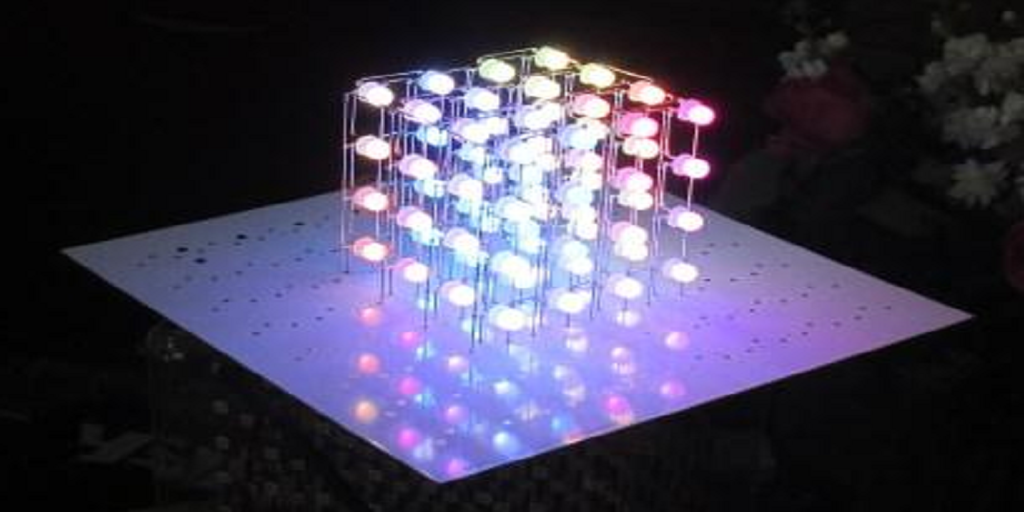 3D Printed Jigs Connect LEDs in Psychedelic NeoPixel Cube Prototype