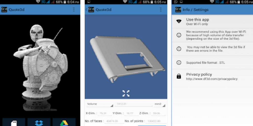 How Much Will This Cost? df3D's New Quote 3D App Calculates 3D Print Pricing
