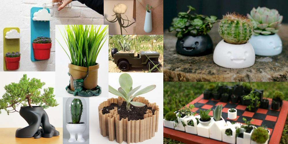 Weekly Roundup: Ten 3D Printable Things – Cool and Unique Planters & Flower Pots