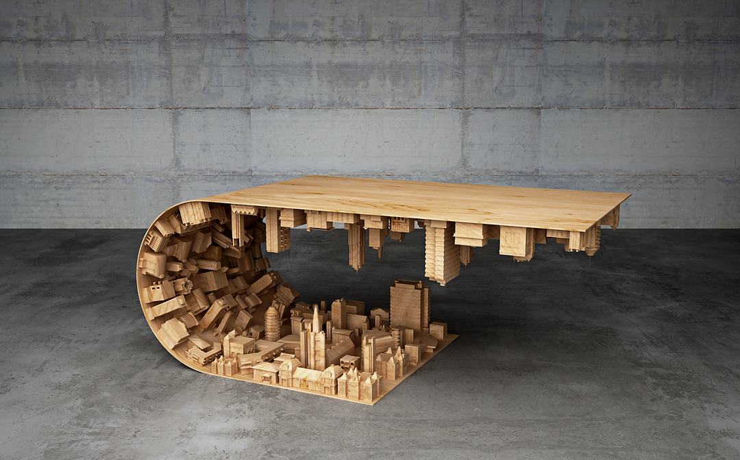 Incredible Inception-Inspired 3D Printed Coffee Table Turns City into an  Artistic Wave