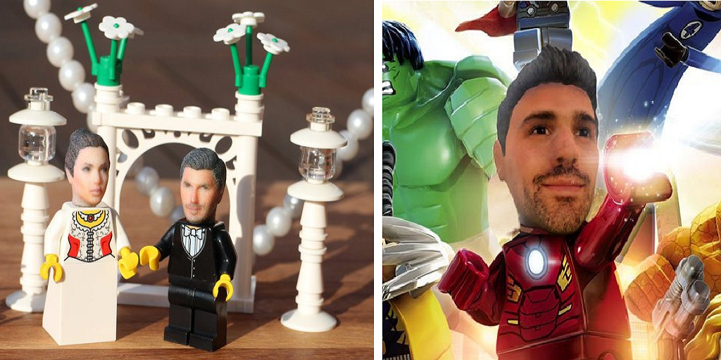 Imagine Your 3D Printed Face on Your Favorite Lego Superhero Minifigure
